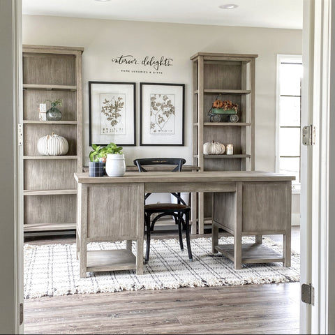 Revere Pewter Walls.  Interior Delights Home Office.