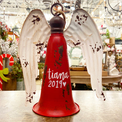 SOLD OUT Angel Wings Jingle Bell (Personalized) - Interior Delights