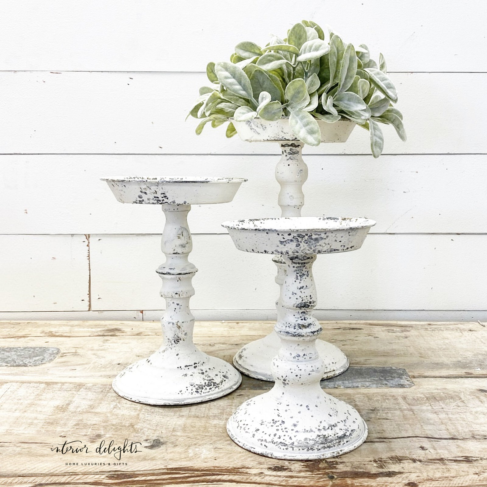 Bundle of 3 Candle or Pouf Holders