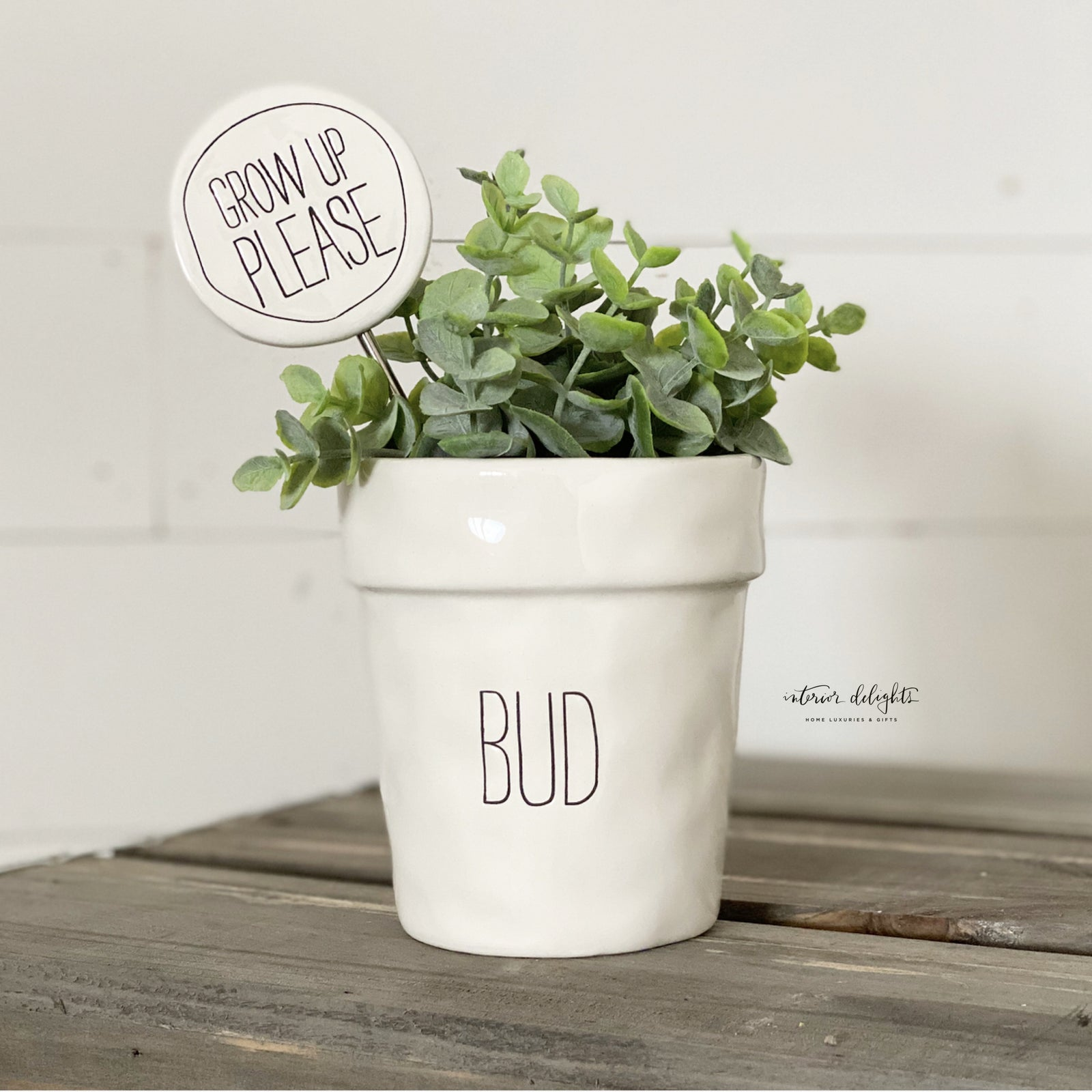 Bud Planter with Grow Up Please Marker