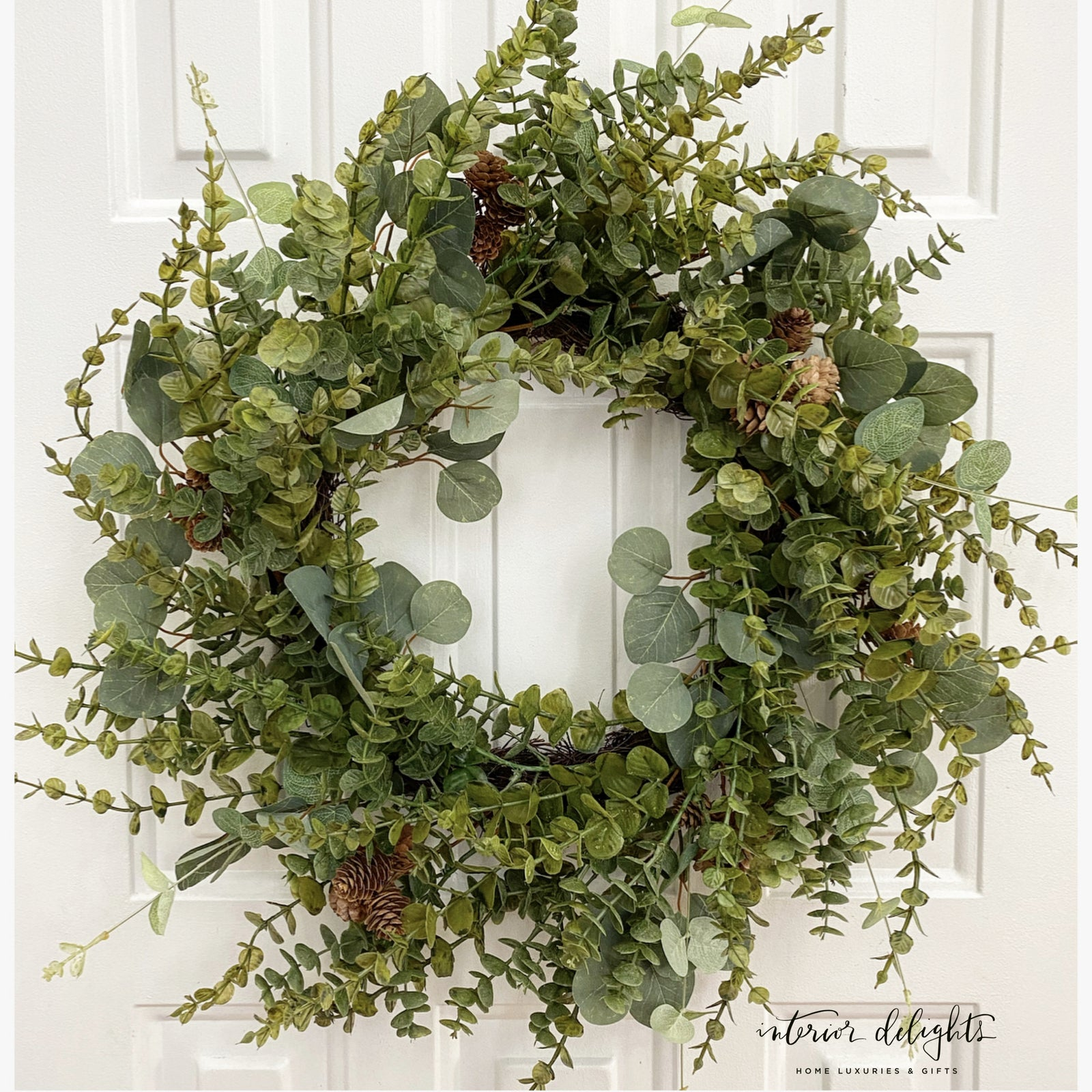 "24"" Eucalyptus Berry Wreath"