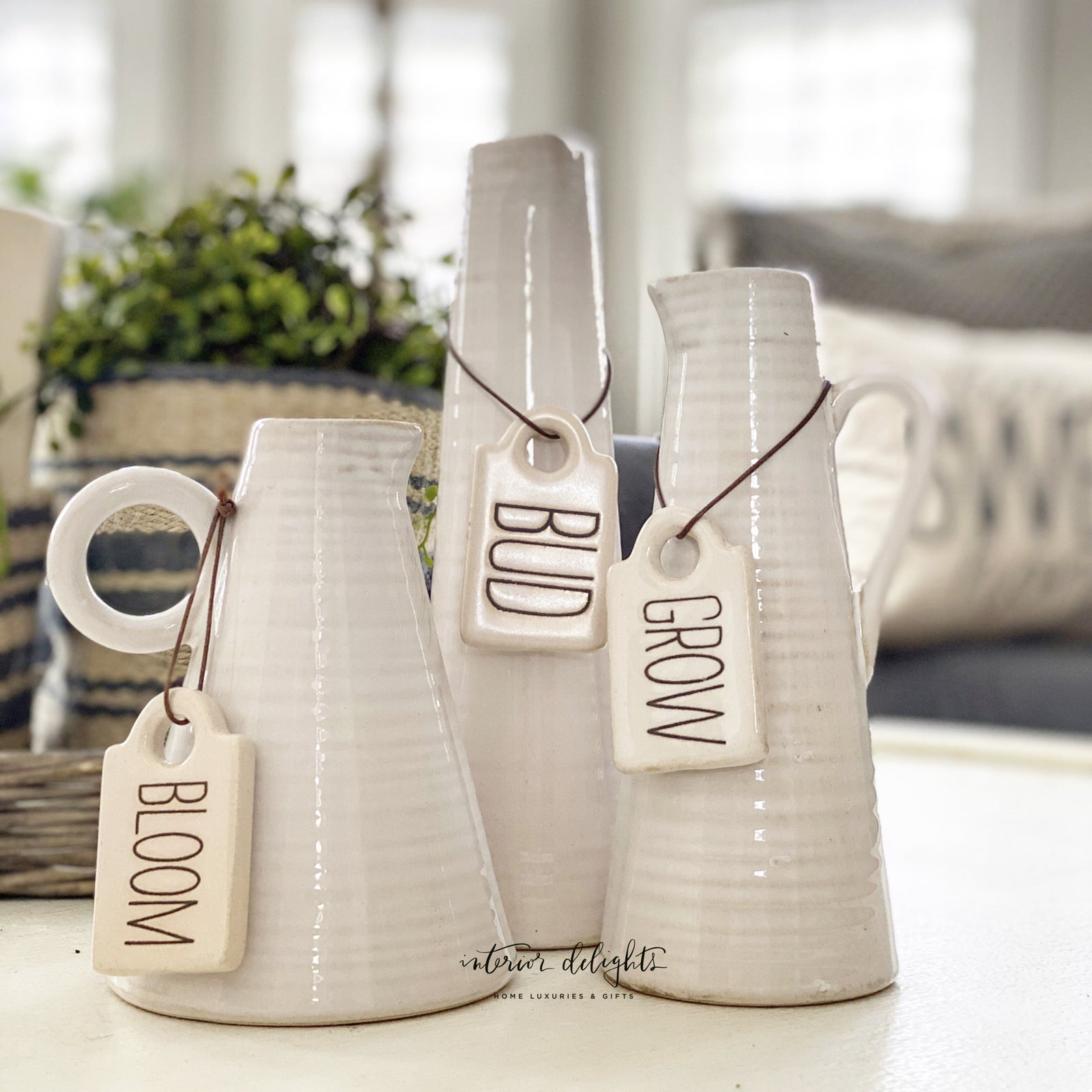 Ceramic Vase Pitcher with Tag-3 options