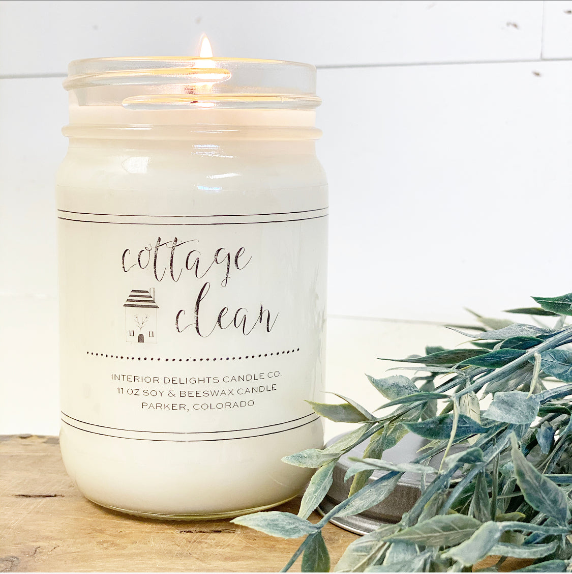 Cottage Clean Candle - Interior Delights Parker
