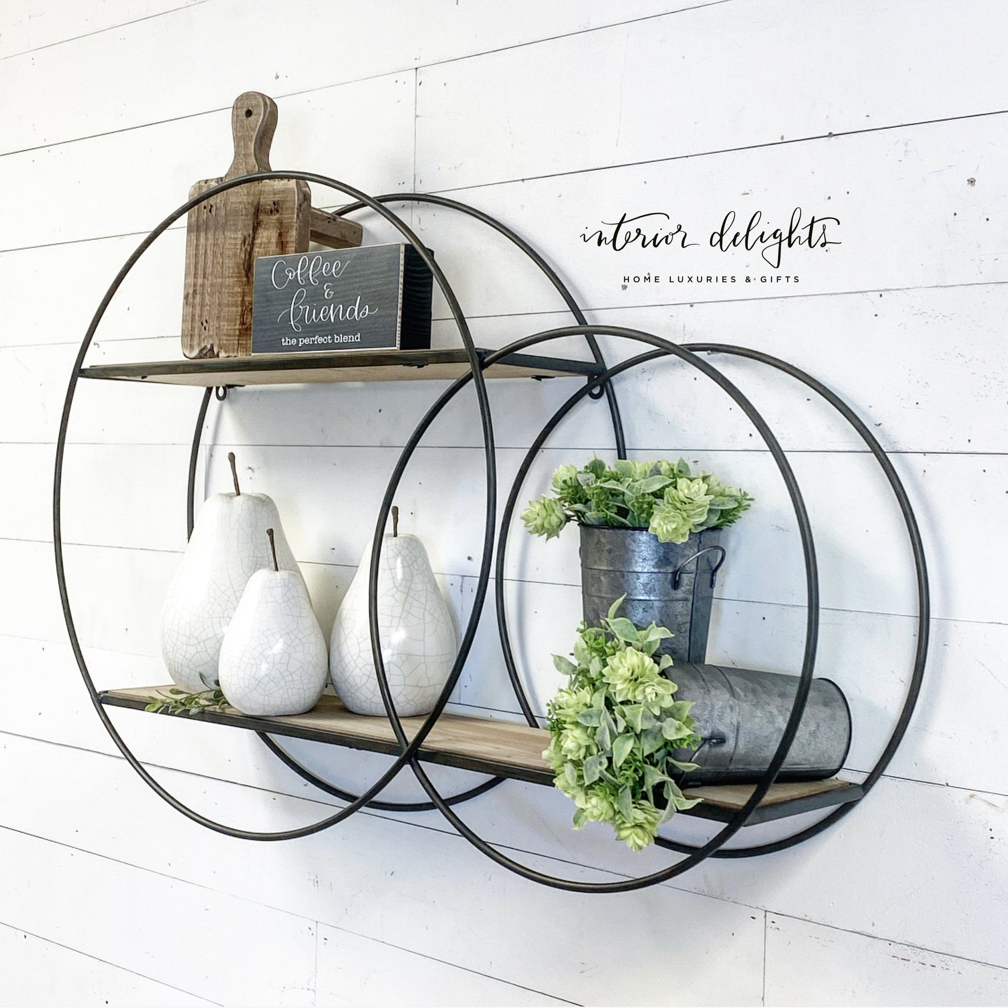 Large One Piece Circular Shelf - Interior Delights Parker