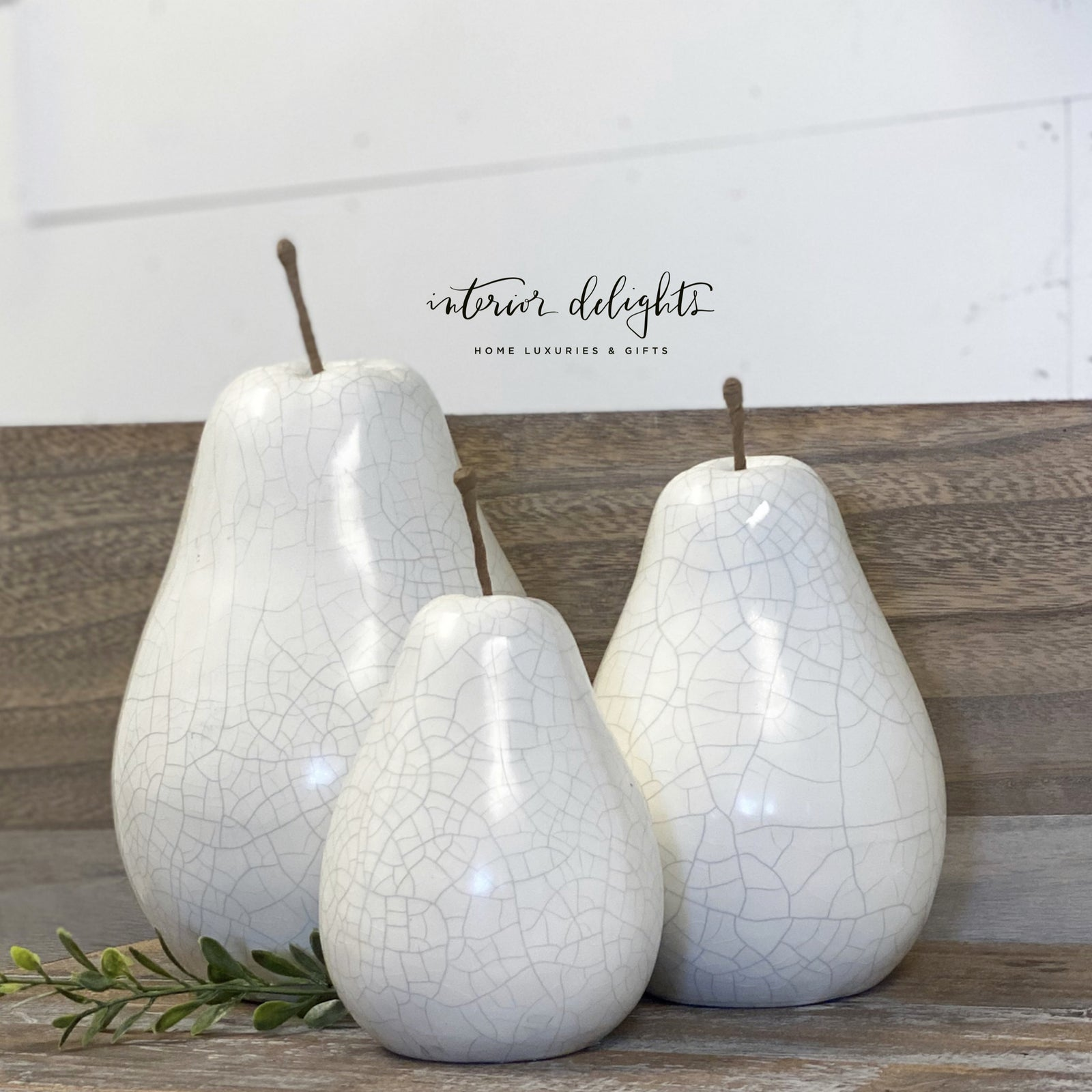 Ceramic Crackled Pears