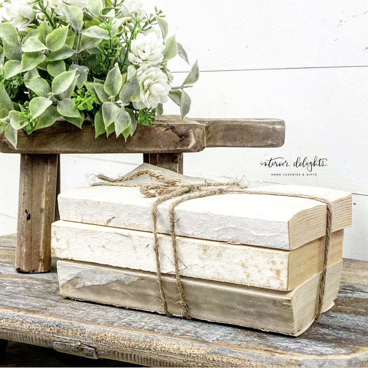 Reclaimed Book Bundles - Interior Delights Parker
