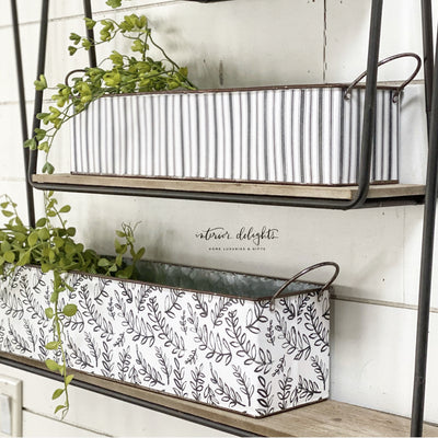 Long Tray Set -Black and White