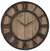 "30"" Rustic Wood & Metal Clock"