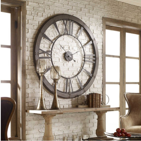"60"" Oversized  Industrial Clock"