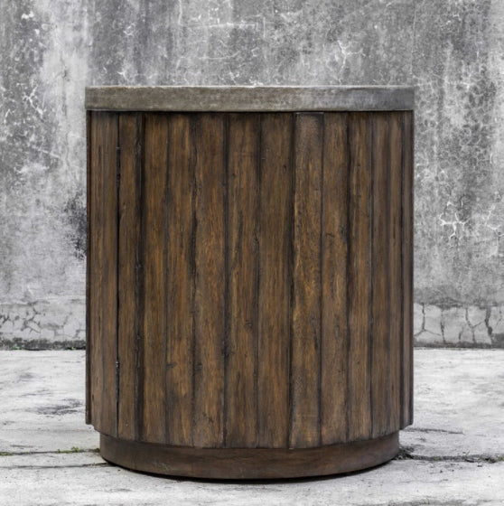 Steel Top Side Table