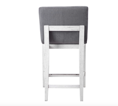Charcoal & Aged White Counter Stool