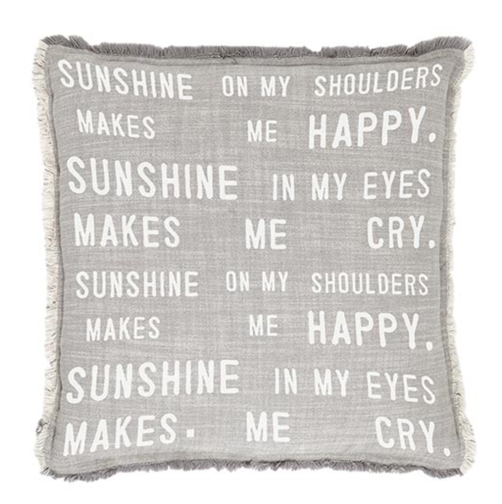 Sunshine on my Shoulders Pillow