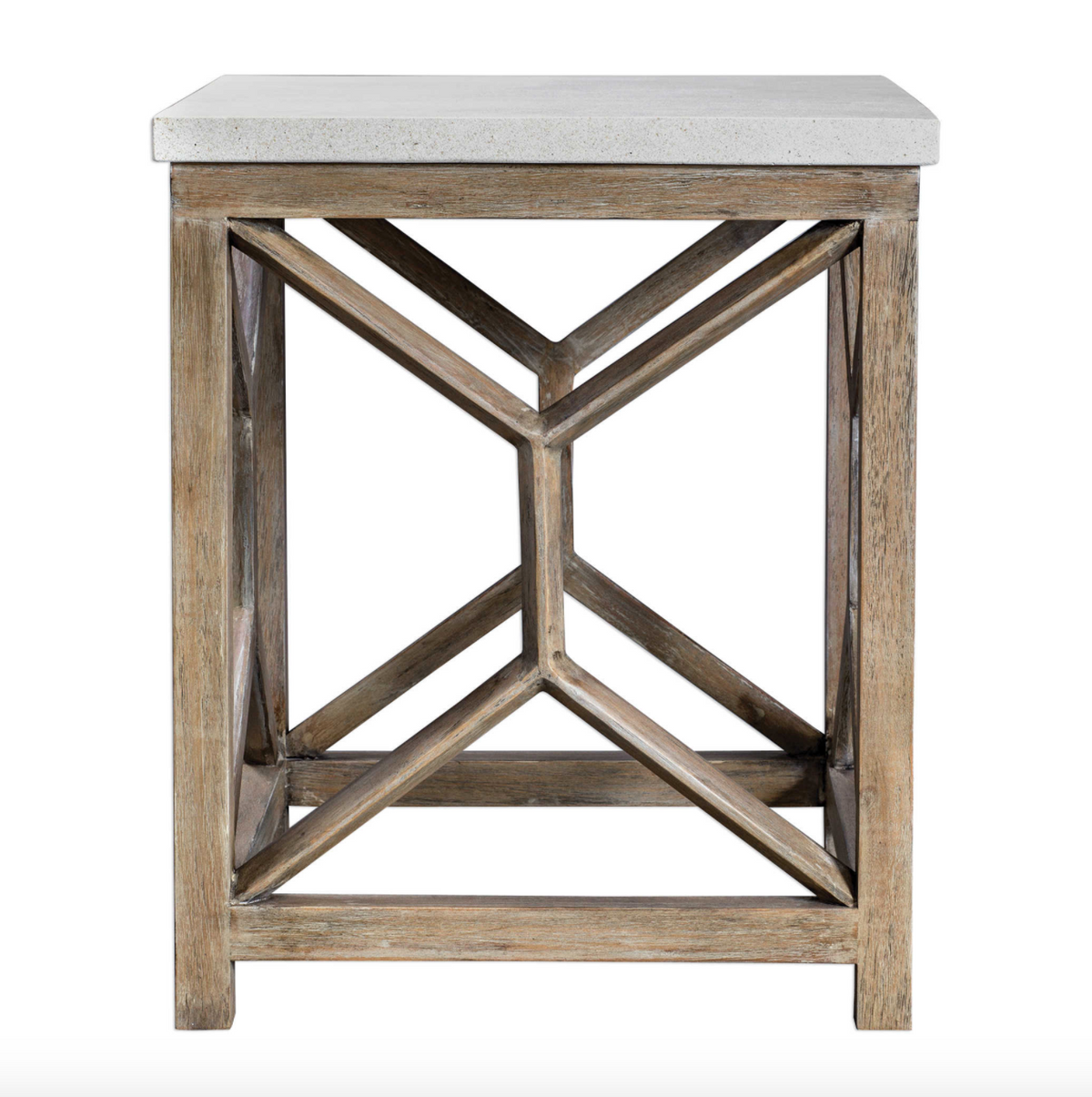 End Table:  Wood Geometric