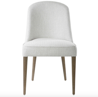 Set/2: White Drop Armless Chairs