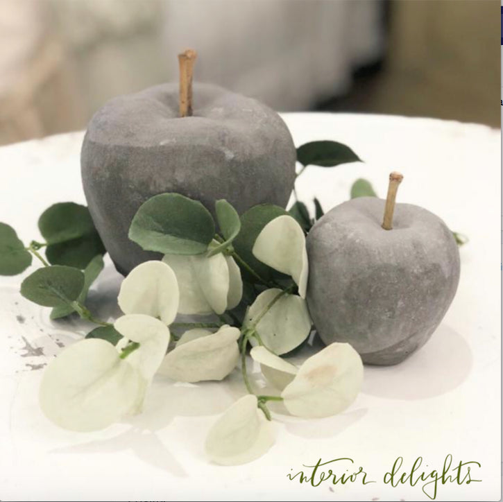 Set of 2 Cement Apples