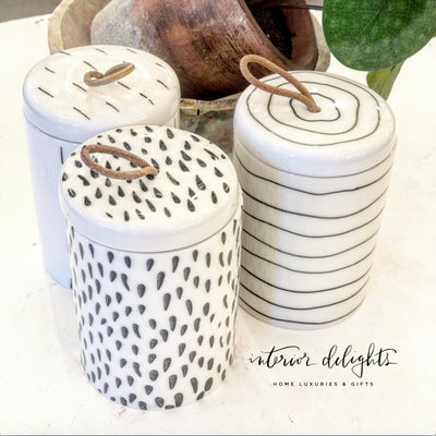 Dash Stoneware Containers (set of 3) - Interior Delights Parker