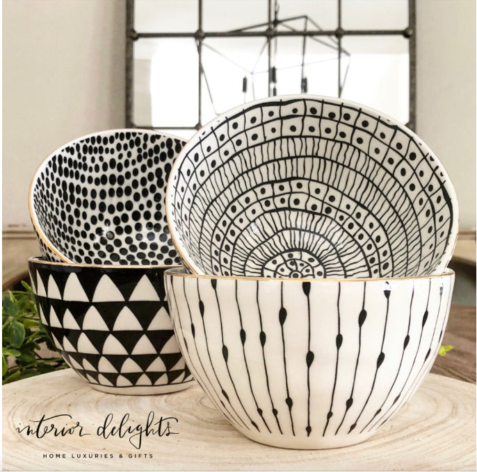 Set of 4 Glitzy Bowls