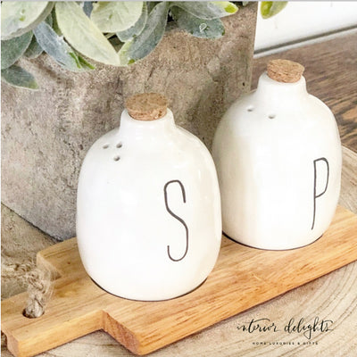 Cork Top Salt & Pepper Shakers - Interior Delights Parker