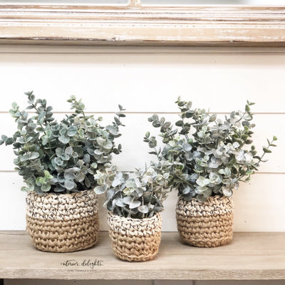 MEDIUM ONLY-Sweater Pot Eucalyptus - Interior Delights Parker