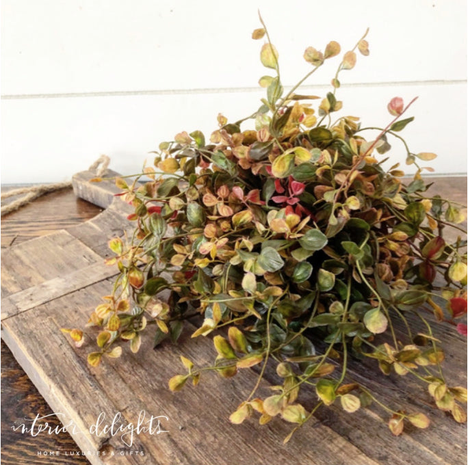 Fall Foliage Pouf
