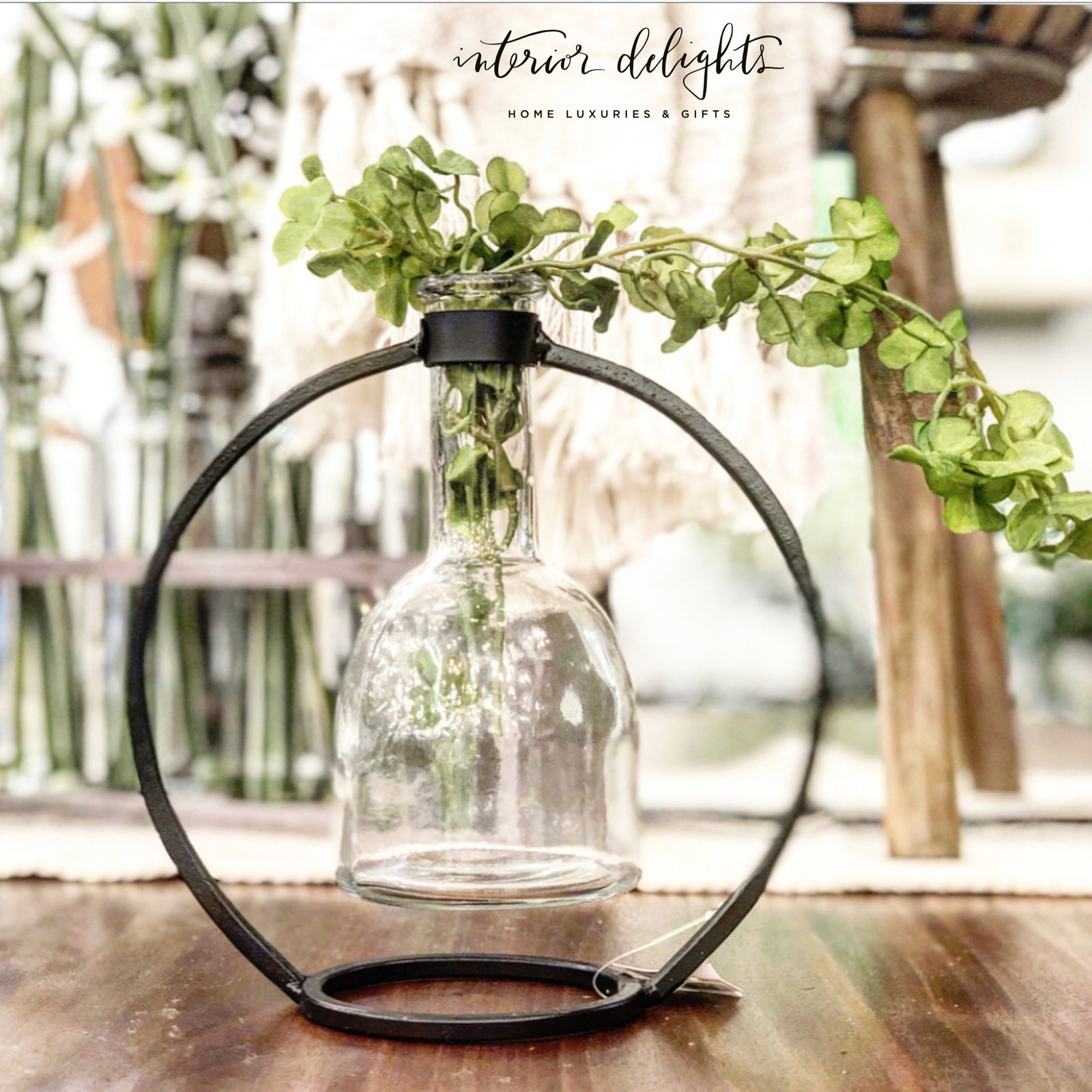 Circular Hanging Bottle Stand