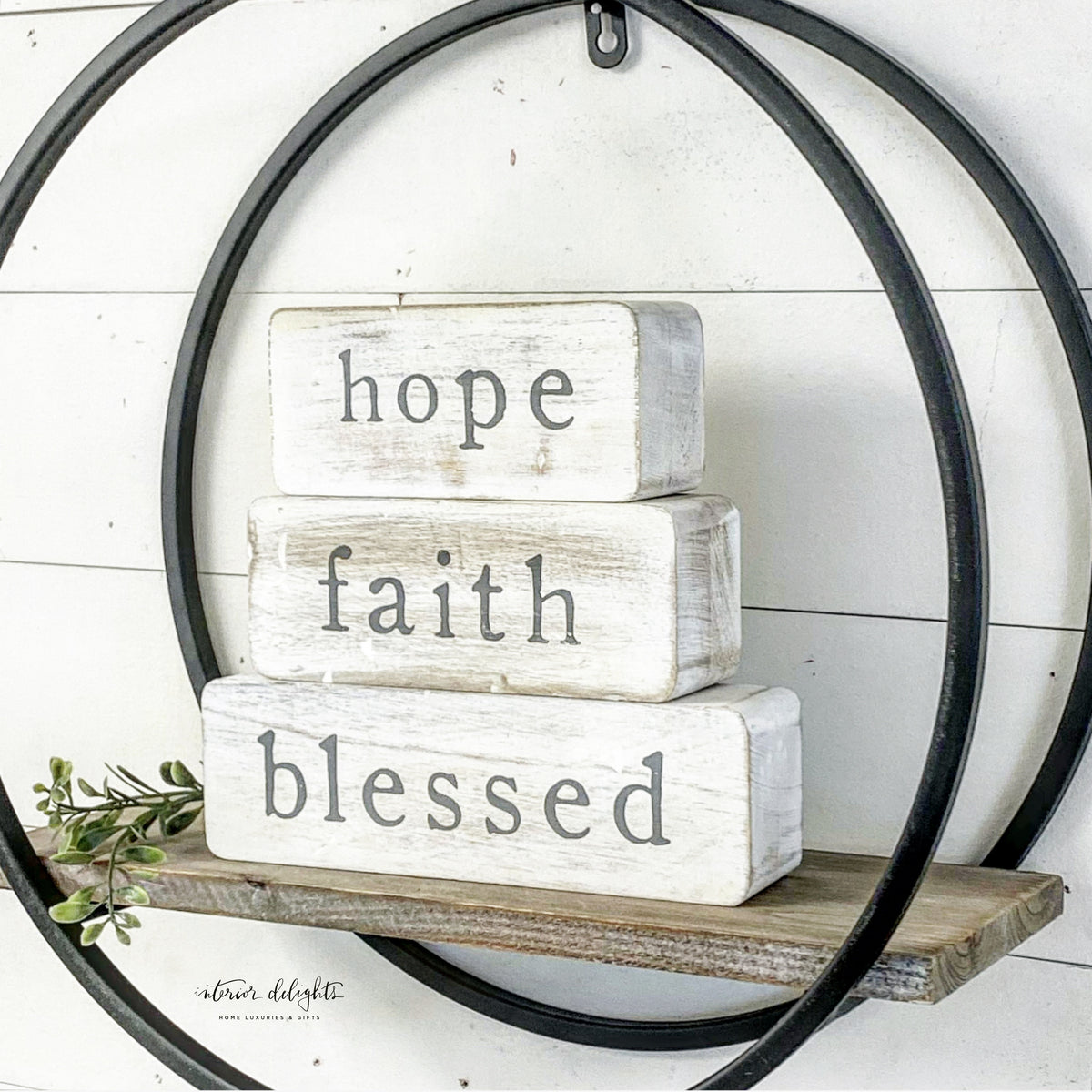 Hope Faith Blessed Blocks - Interior Delights Parker