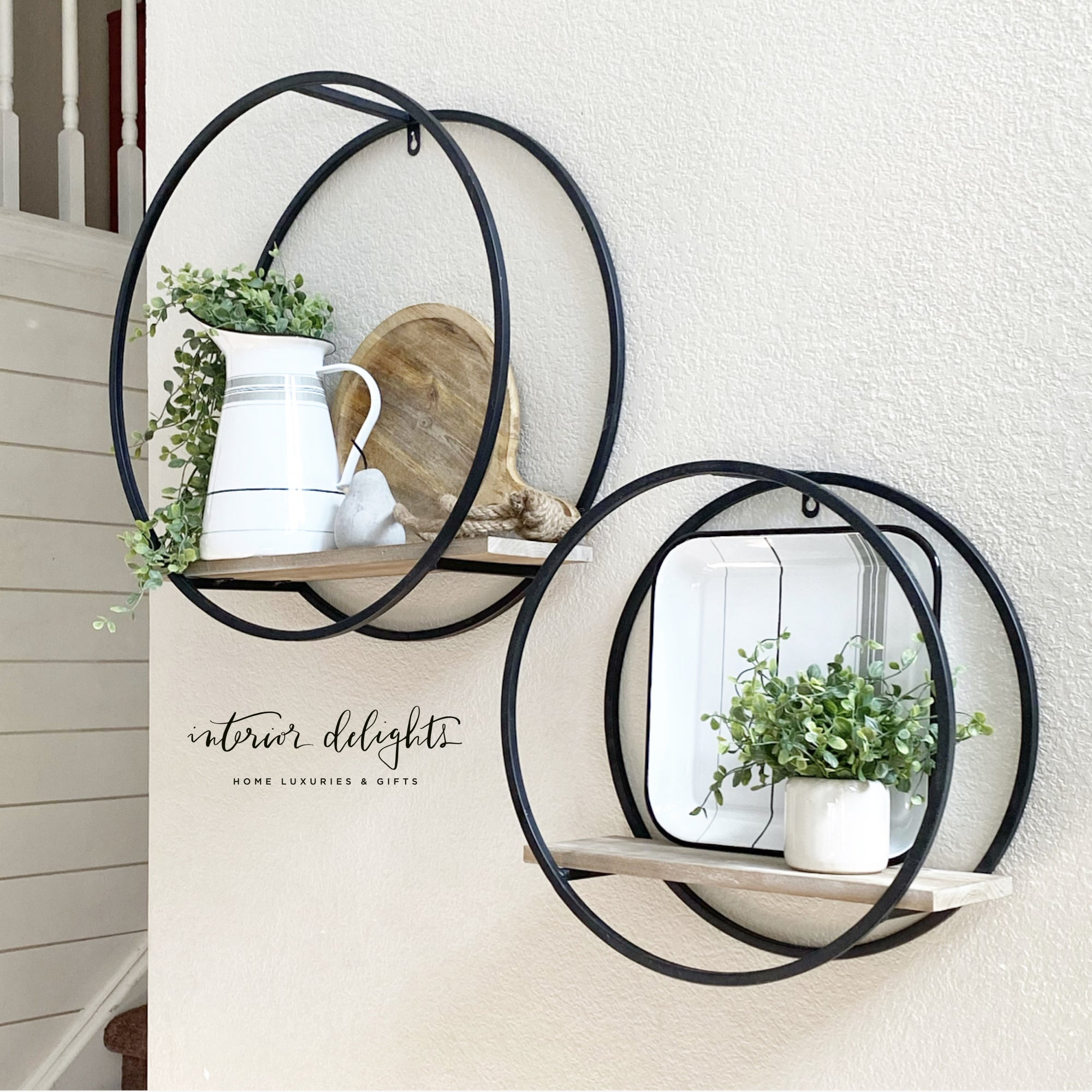 LARGE Circular Shelf Set