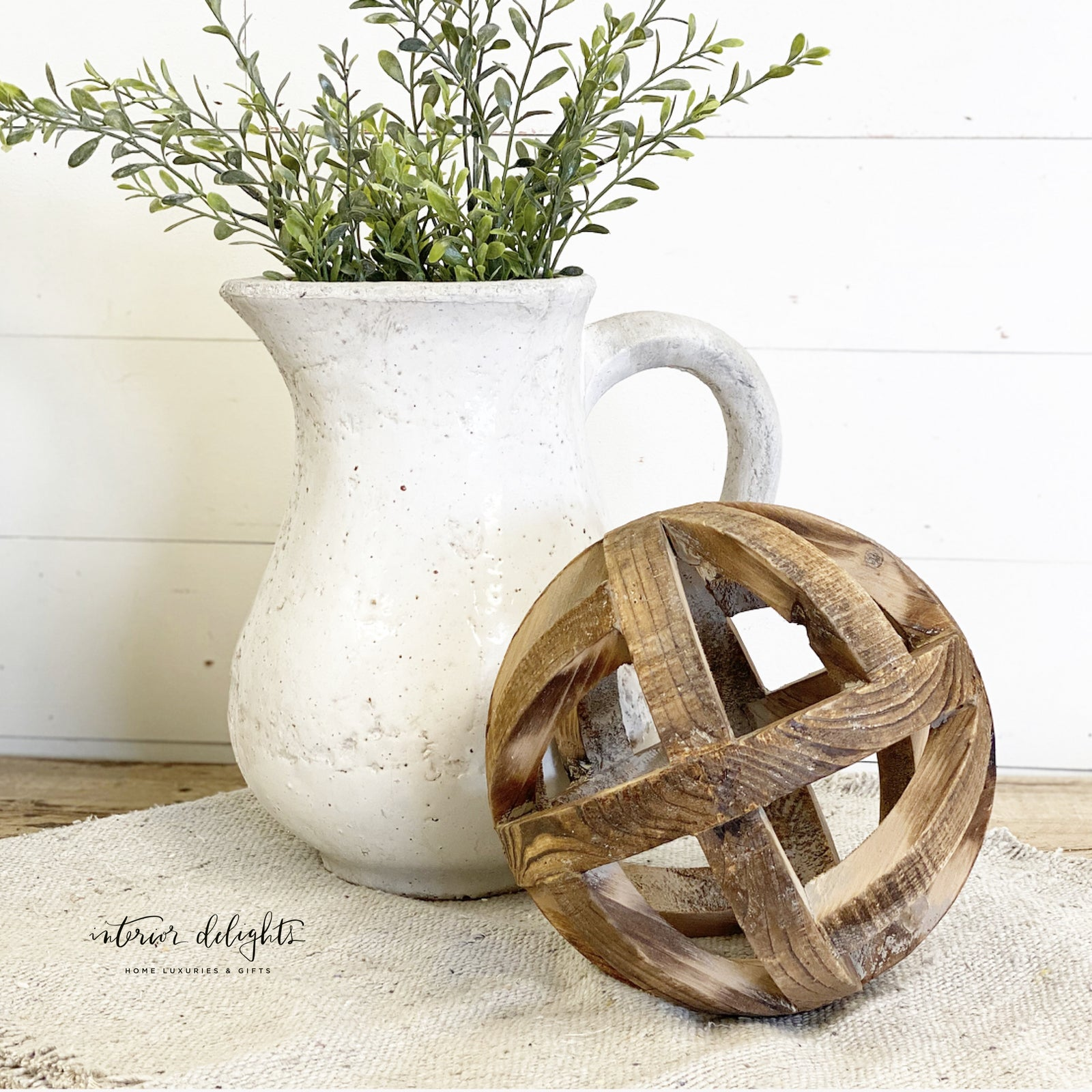 "8"" wooden orb"