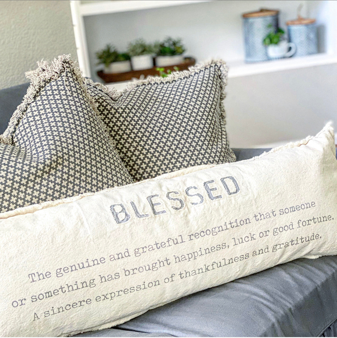 Blessed Pillow - Interior Delights Parker