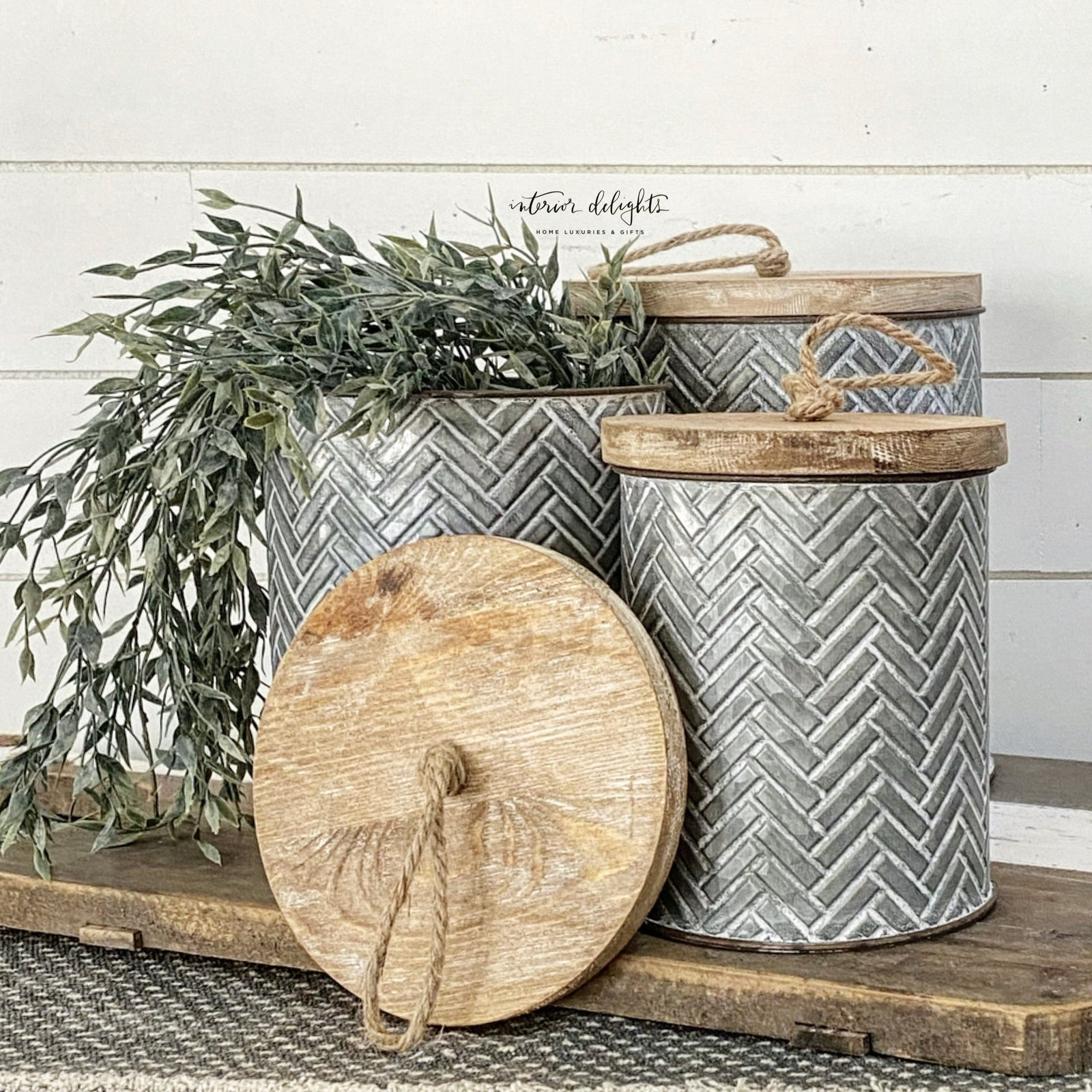 SOLD OUT Herringbone Canister