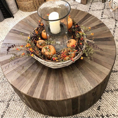 Wooden Drum Coffee Table