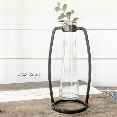 "9"" Industrial Stem Vase"