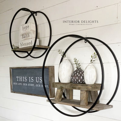 Large Circular Shelf Set - Interior Delights Parker