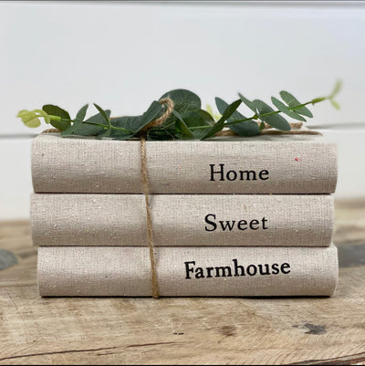 Home Sweet Farmhouse Stacked Books