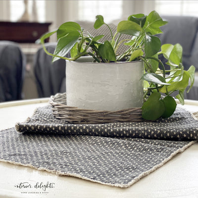 Slate and Cream Dot Runner - Interior Delights Parker