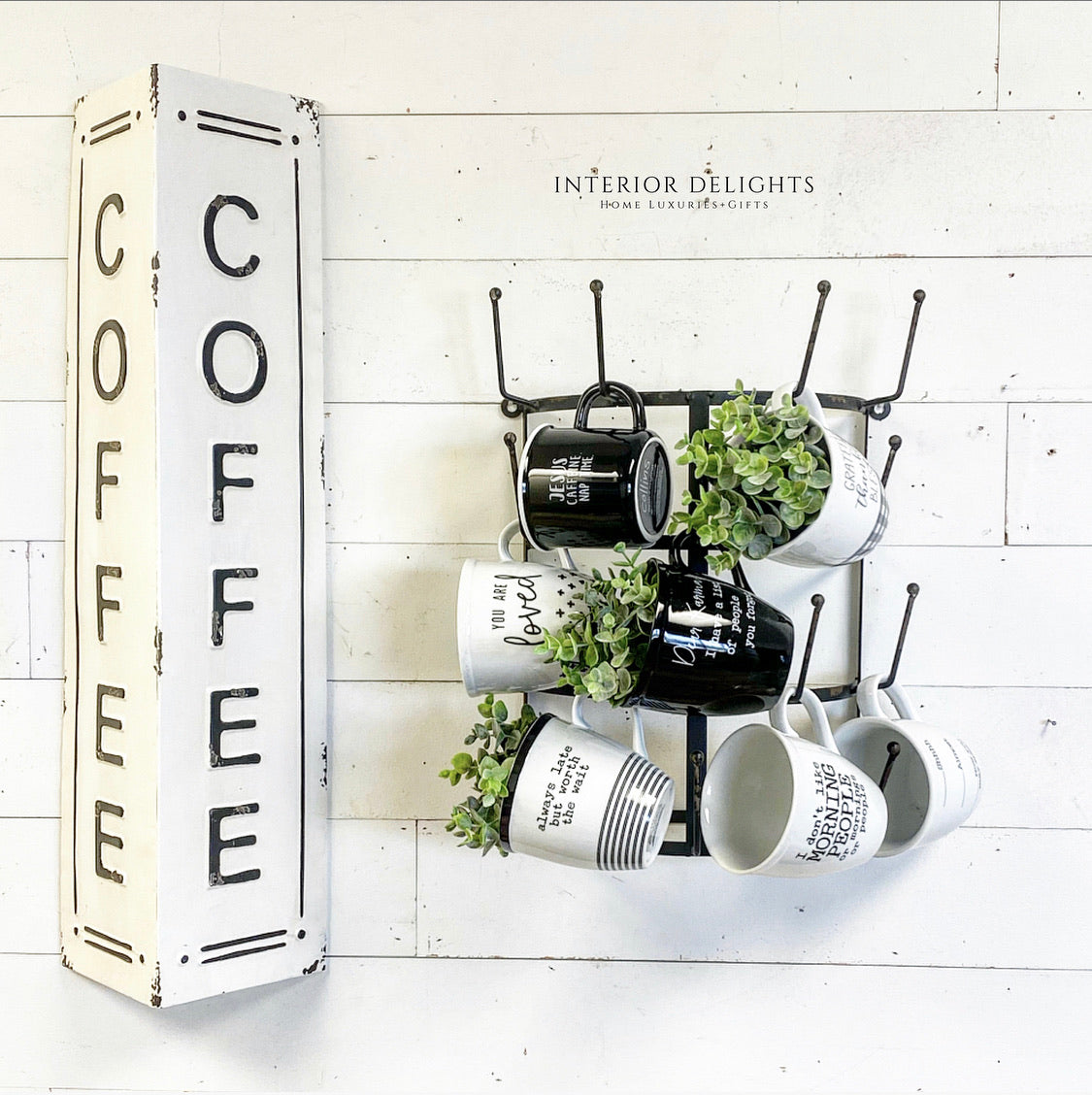 Metal Coffee Sign - Interior Delights Parker