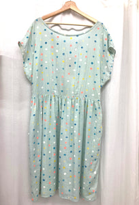 Ida Sundress -'Mint Polka Dot'
