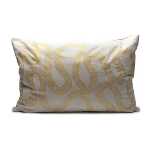 Throw Pillow - Serpent in Gold