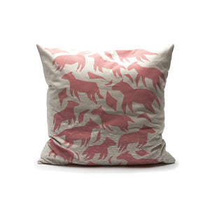 Throw Pillow - Dream Animals in Dusty Pink