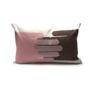 Throw Pillow - Hands in Pink / Brown