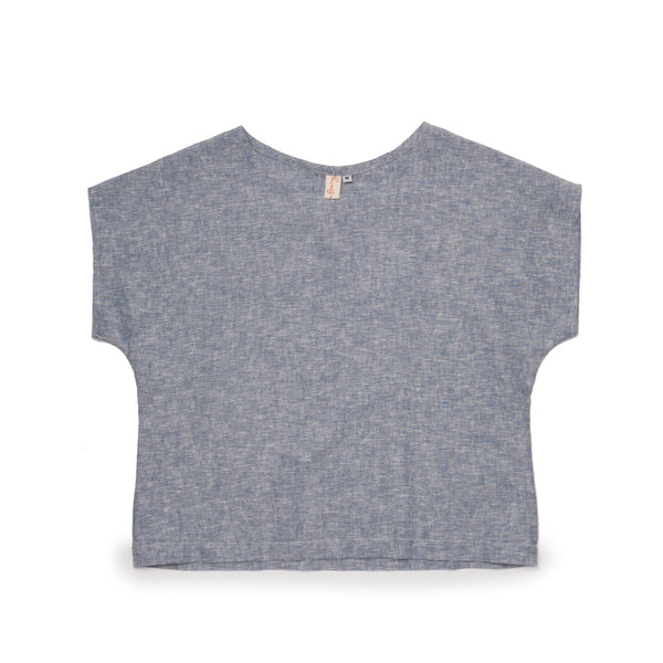 Ida Top - Denim Chambray