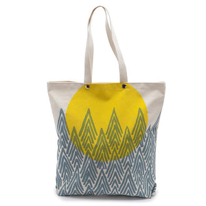 Pocket Tote Bag - Yellow Super Moon