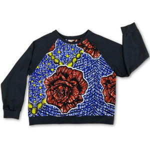 Van Raglan Top - Big Rose