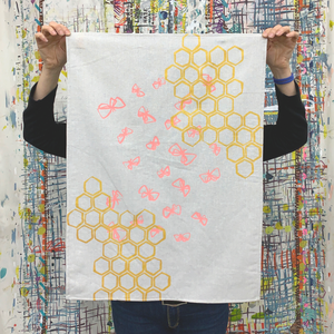 Tea Towel -  'Pollination'