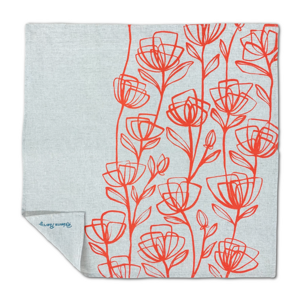 Cloth Napkin - 'Poppy'