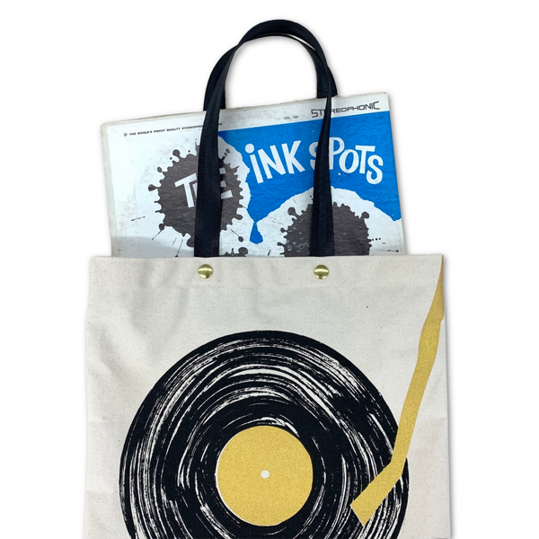 Pocket Tote Bag - Record Player