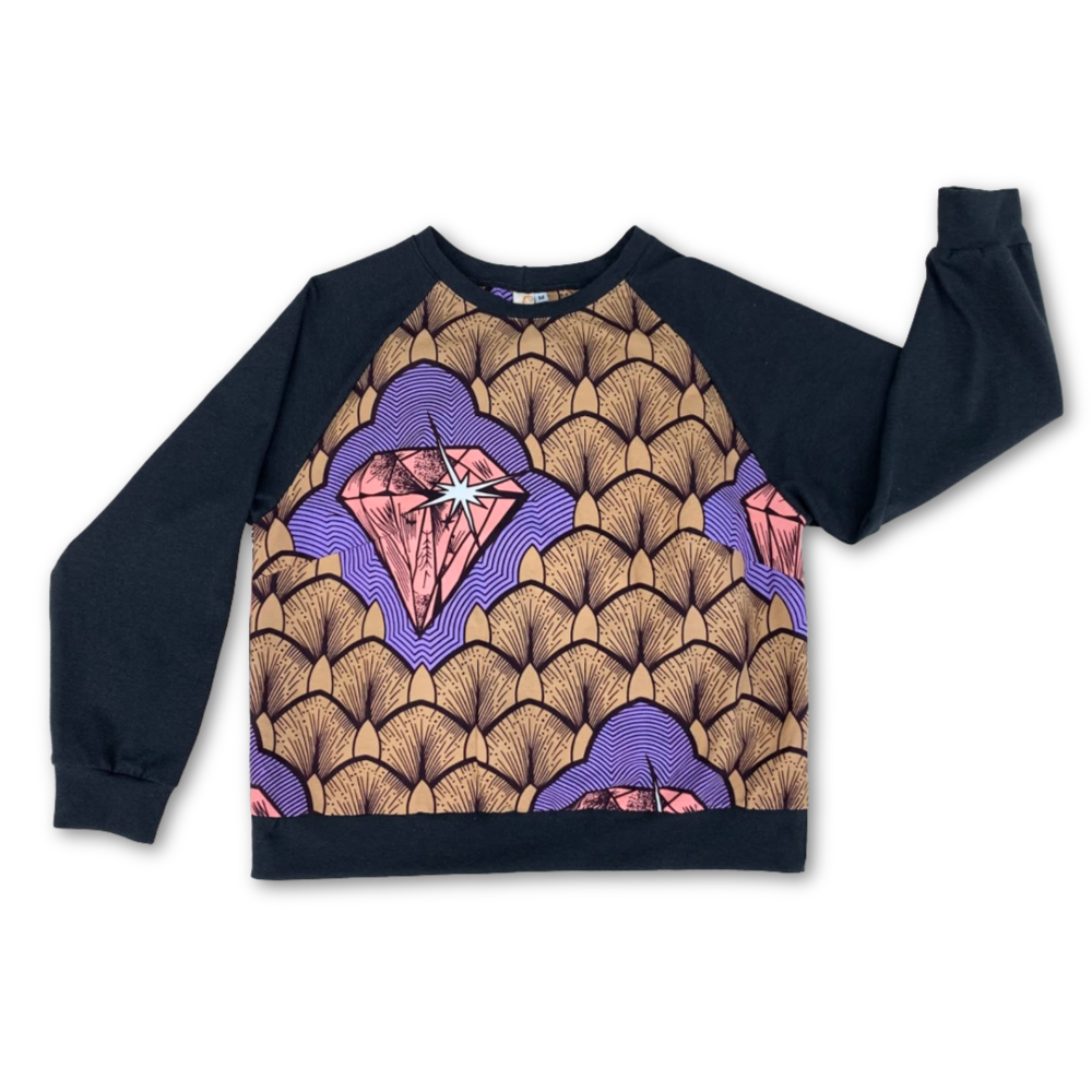 Van Raglan Top - Pink Diamond