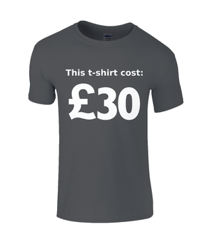 This T-shirt Cost £30 - men's t-shirt