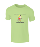 When I Grow Up I Want To Be A Firewoman - kid's t-shirt