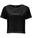 don't even think about it - women's crop top